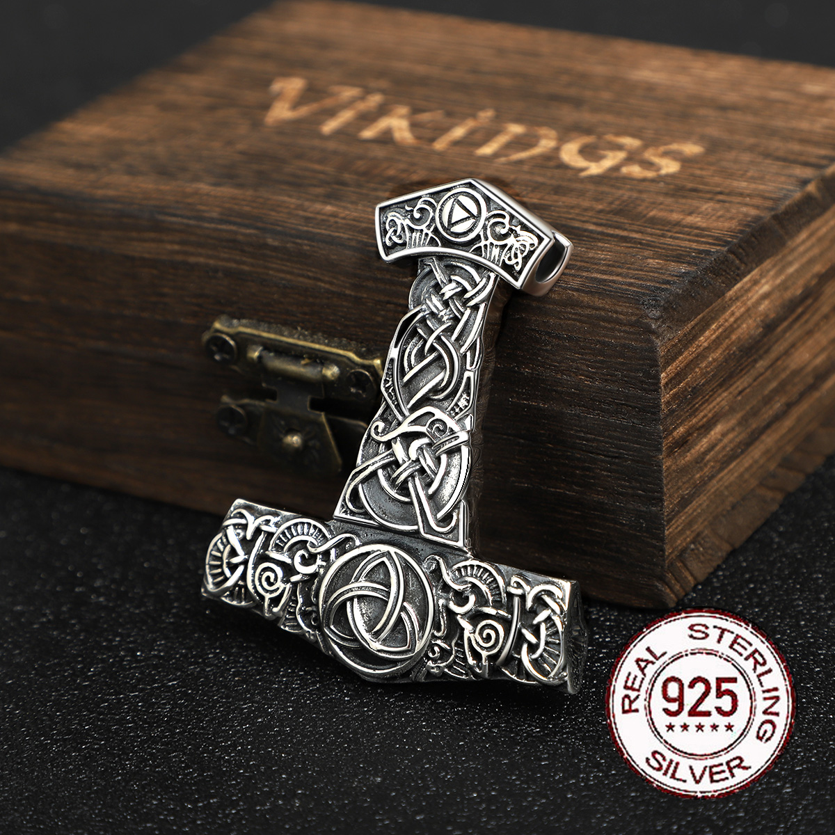 S925 노르웨이 바이킹 펜던트 목걸이 토르의 망치 mjolnir 스칸디나비아 오딘 부적 남자 보석 체인 선물