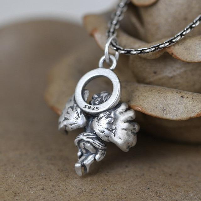 Fine Jewelry 925 Sterling Silver Vintage Angel Pendant5