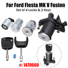 Set of 4 Lock Door Ignition Barrel Switch with 2 Keys 1479660 For Ford Fiesta MK V Fusion