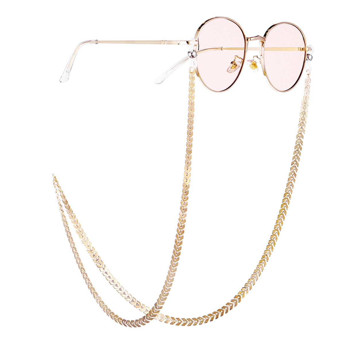 Fashion Glasses Chain Ins Gold Geometric Links Noble Luxury Temperament Glasses Chain Ladies Hot New 2019