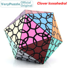 Original VeryPuzzle Clover Icosahedral D1 Magic Cube Petal Curve Speed Twisty Puzzle Brain Teasers Educational Toys For Children cube curve allroad 2015