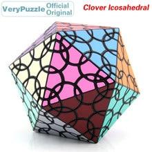 купить Original VeryPuzzle Clover Icosahedral D1 Magic Cube Petal Curve Speed Twisty Puzzle Brain Teasers Educational Toys For Children по цене 3624.55 рублей