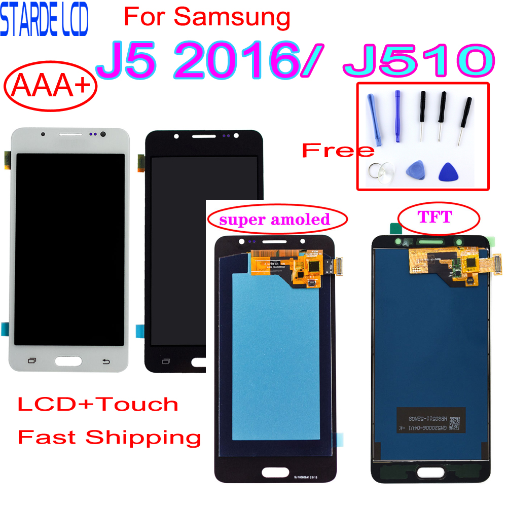 AAA+ For Samsung J5 2016 SM-J510F <font><b>J510FN</b></font> J510M J510Y J510G J510 LCD <font><b>Display</b></font>+Touch Screen Digitizer Assembly with Free Tools image
