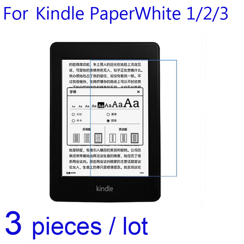 3pcs/lot Soft Screen Protectors For Amazon Kindle Paperwhite 1/2/3 4 KPW4 2018 Clear/Matte/Nano Anit-explosion Protective Film
