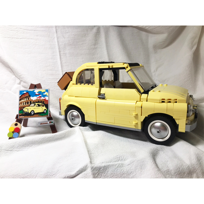 NEW Lepining Technic Series FIATed 500 Volkswagen T1 Camper Van 10220 10271 Model Building Blocks Kits Set Bricks Toys