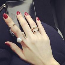 Modus minimalismus joint ringe kreuz link kette design midi perle finger bands strass dekoration weibliche circlets