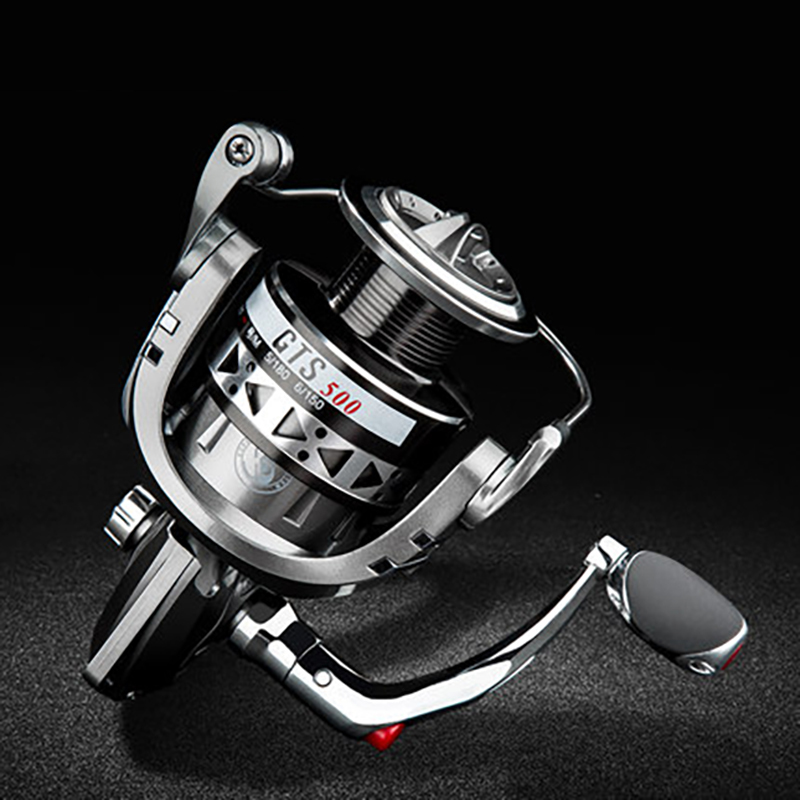 ZUKIBO GTS1000 Fishing Reel All Metal 5.2:1 Spinning Reel 18KG Max Drag Stainless Steel Handle Spool Saltwater Fishing Accessory