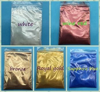 100g mix 5 paczek 5 kolorów perłowy pigment proszek mica perłowy efekt błysku w proszku kolor perłowy metaliczny akrylowy lakier tanie i dobre opinie Mica powder