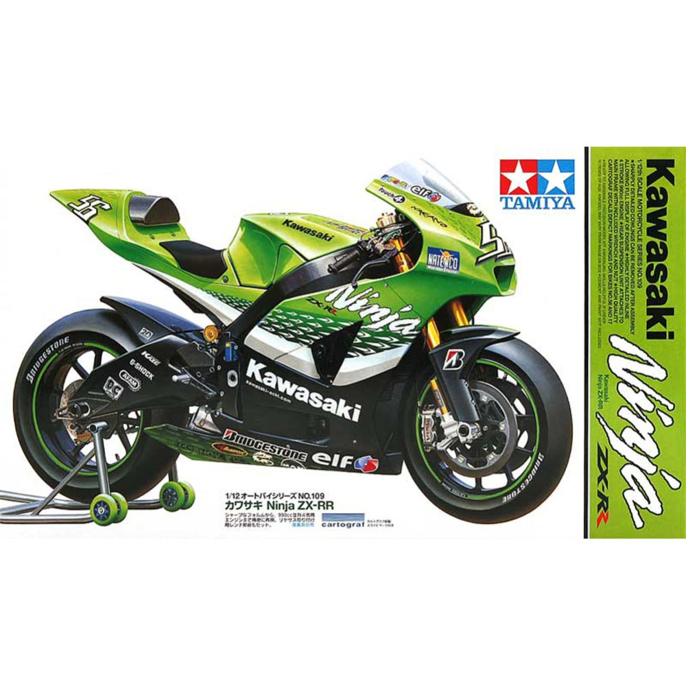 Tamiya 14109 Model Building Kits 1:12 Scale Kawasaki Ninja ZX-RR Motorcycle Assembly Toys For Kids Children & Adults