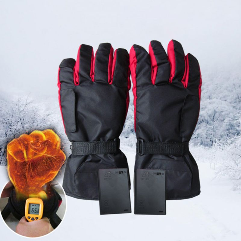 Men Women Electric Heated Gloves Battery Powered Waterproof Thermal Motorcycle Snow Ski Riding Sport Mitterns Winter Warmer 27RD