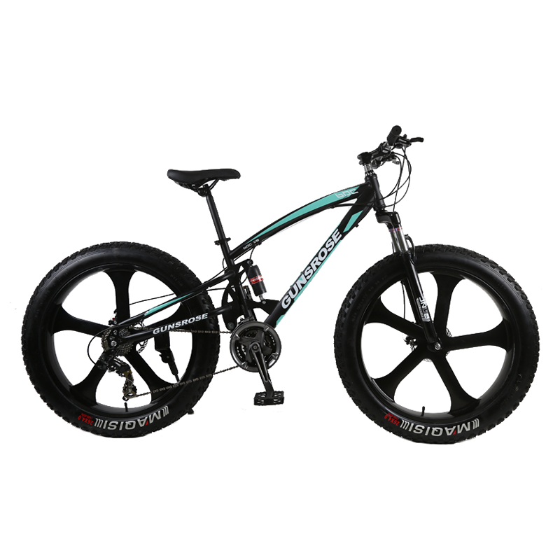 4.0 Fat Tire Mountain Bike 26 Inch Mountain Bicycle High Carbon Steel Fat Bike Beach Snow Bicycle 7/21/24/27 Speed Bike