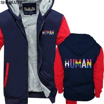 Sudaderas gruesas de invierno humano LGBT PRIDE lesbiana divertida SCFI regalo de cumpleaños regalo GAY Arco Iris abrigo de invierno para hombres sbz1352