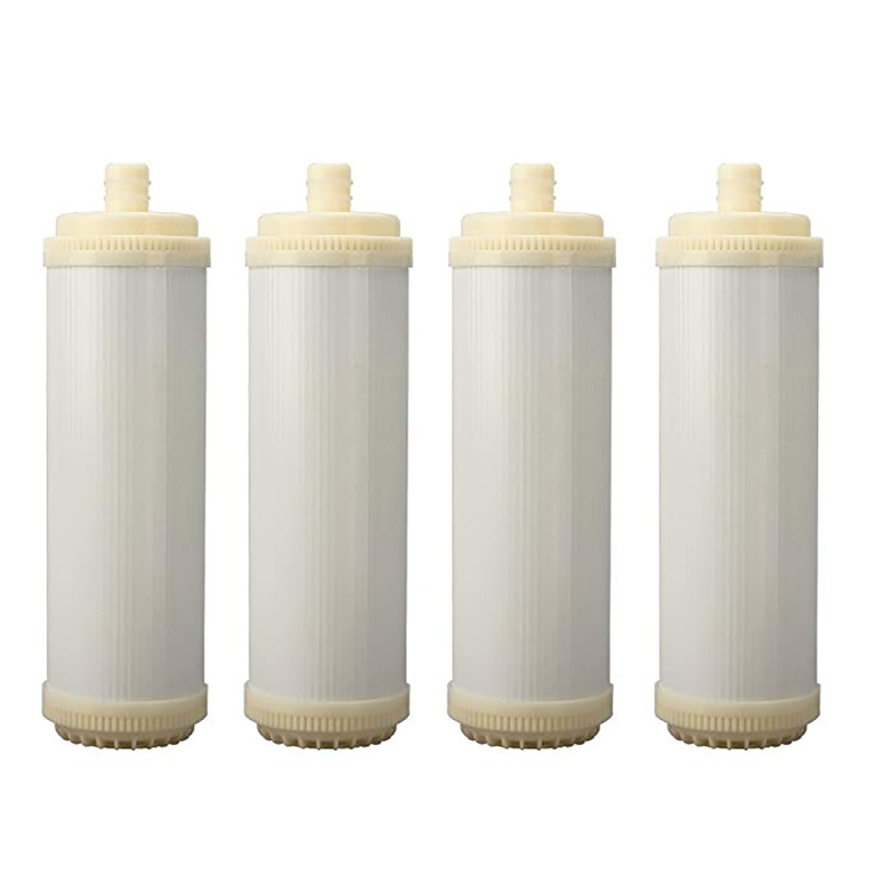4PCS Plug In Type UF Hollow Fiber Filter 10 Inch Ultrafiltration Membrane Filter for Water Purifier Household Pre Filtration|Water Filter Parts| |  -