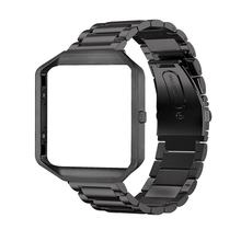 Stainless Steel Pengganti Stainless Steel Wrist Watch Band Tali Frame untuk Fitbit Blaze Gear S3 Klasik Gelang(China)