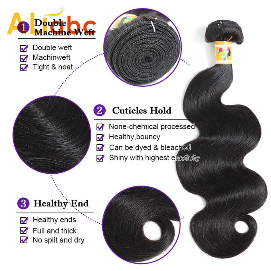 Aliabc волнистые бразильские волосы, волнистые пряди, человеческие волосы, пряди, натуральный цвет, Remy, 8-28 дюймов, волосы для наращивания, бесплатная доставка