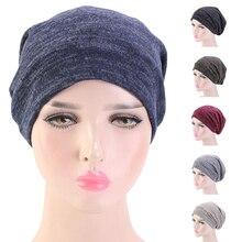 Women Headwear Soft Turban Night Sleep Cap Unisex Men Beanie Bonnet Headscarf Ba