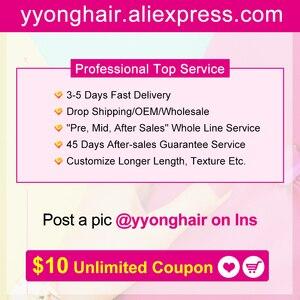 Image 5 - Yyong Peruaanse Steil Haar 3 Bundels Remy Human Hair Extensions Met 4*4 Vetersluiting Dubbele Inslag Weave Bundels met Sluiting