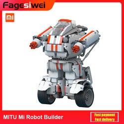 Xiaomi MITU Mi Robot Builder zabawki edukacyjne dla dzieci sterowanie bezprzewodowe modułowe programowanie graficzne wtyczka EU