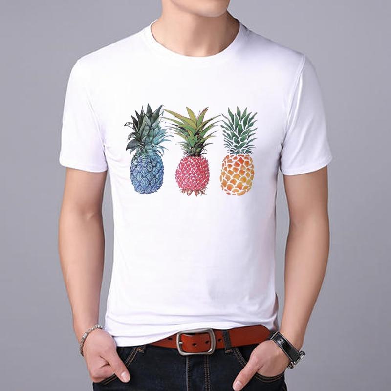 Lus Los 2019 nueva camiseta de ropa de frutas piña para hombres de moda casual camiseta superior gráfica camiseta masculina ropa Kawaii