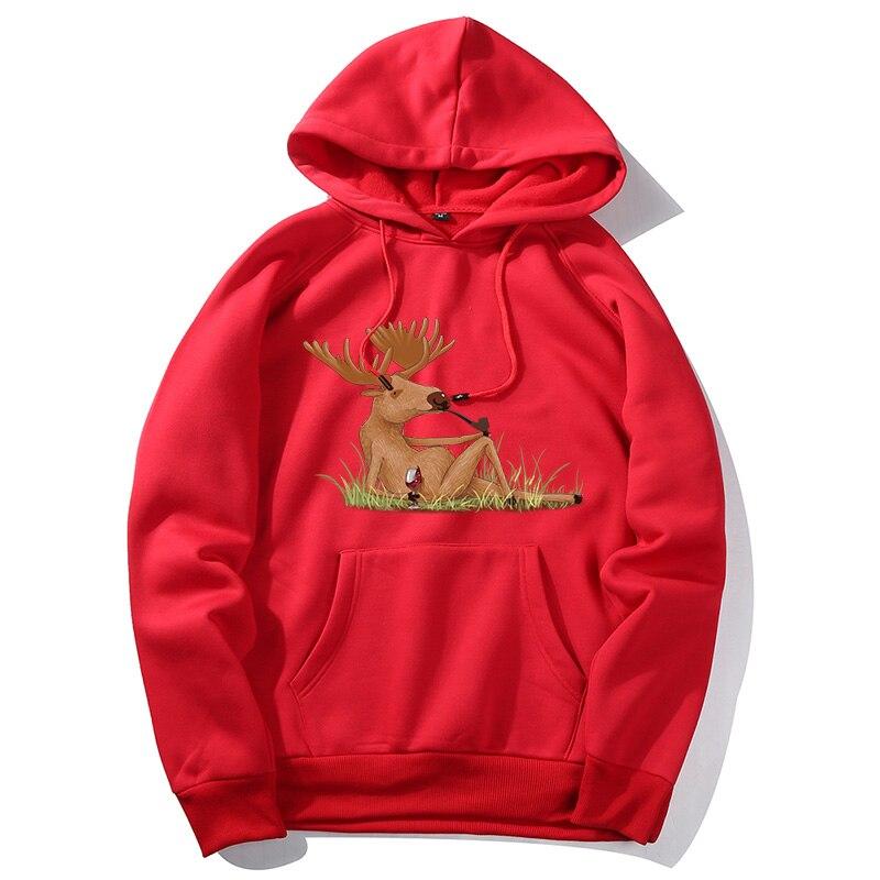 2020 New Christmas Hoodie Men Santa Claus Print Loose Hoodie Men Women Pullover Christmas Novelty Autumn Winter Xmas Sweatshirts