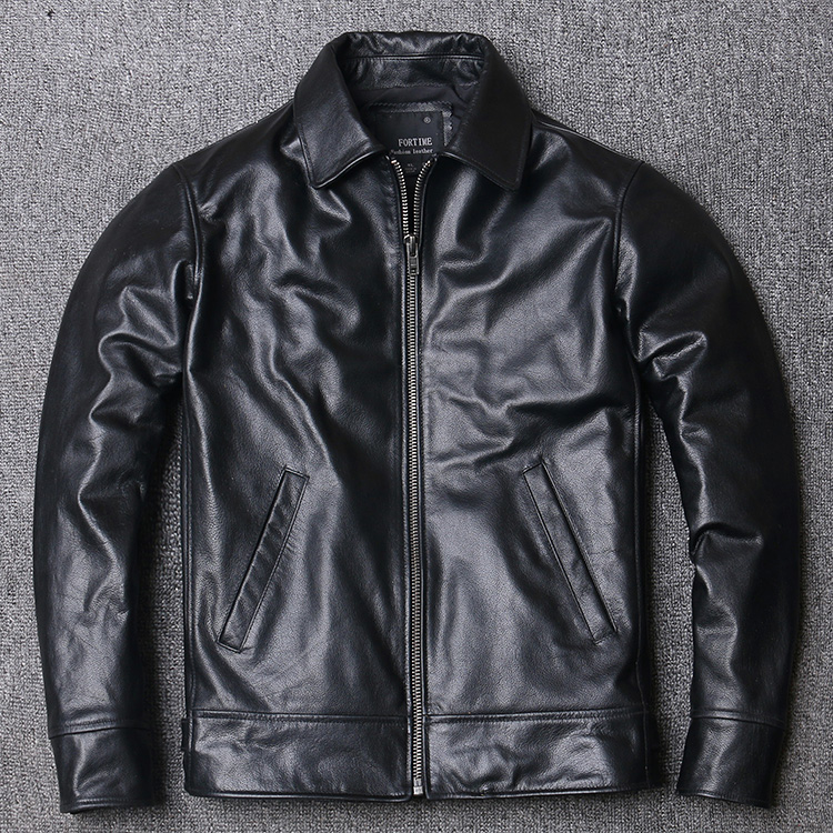 Free Shipping,2020 New Cheap Leather Jacket.mens 100% Genuine Leather Casual  Coat.black Slim Cowhide Outwear.quality
