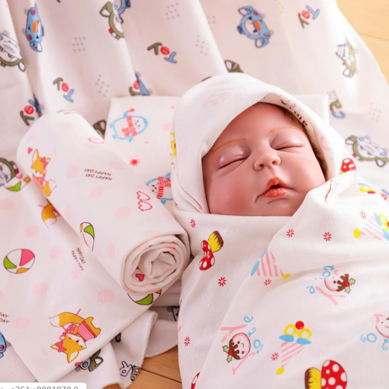 2019 New Baby Being Organic Cotton swaddle Cartoon baby muslin blanket quality better thanBlanket Infant quilt bath towe.