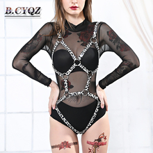Mode femmes harnais corps ceintures jarretières Bondage ceinture Punk sangle bande jarretière bretelles femmes Sexy corps Cage Lingerie haut
