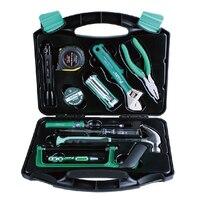 PK 2028 28PCS Hand tools set household tools kit pliers tape hanmmer screwdriver Multifunction tool box set