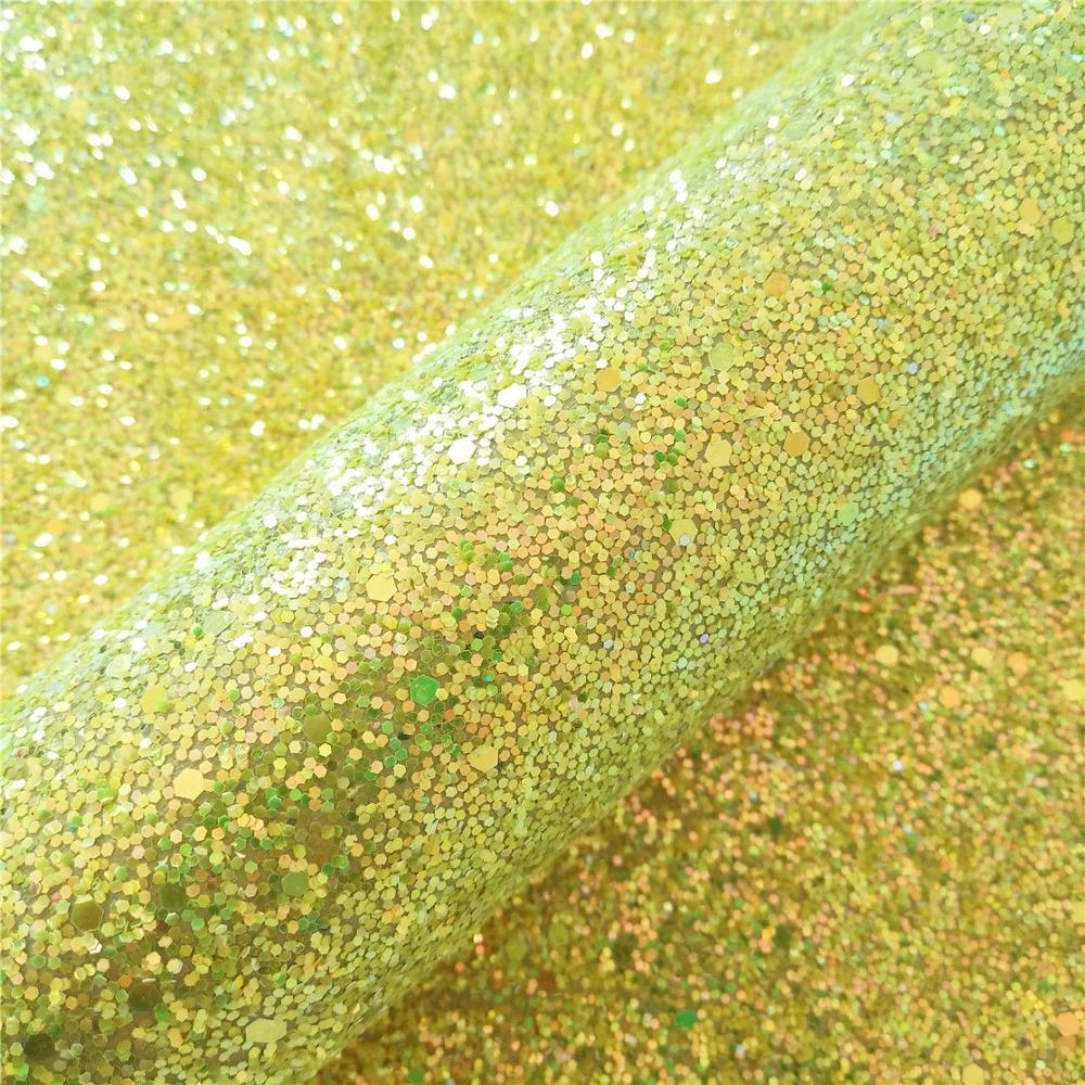 Glitter Vinyl Fabric Hologram Rainbow Leather Vinyl Hair Bow Decoration DIY Handmade Sequin Bows Craft Material