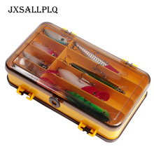 8 Grid Fishing Bait Box Double Sided Plastic Tackle Hook Soft Insect Storage Sea Carp Fly Accessories