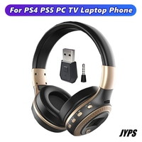 Auriculares inalámbricos con Bluetooth y pantalla LCD, cascos con micrófono estéreo HiFi, cancelación de ruido para PC, TV, PS4, PS5, audífonos para jugadores