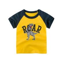 Летняя хлопковая футболка с коротким рукавом для мальчиков изображением