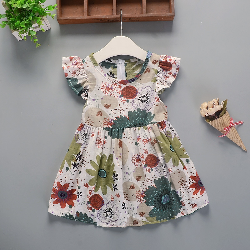H826f72dadf8149169ba459266e3cb4b7B Hot 2018 New Summer Dress Toddler Kids Baby Girls Lovely Birthday Clothes Blue Striped Off-shoulder Ruffles Party Gown Dresses