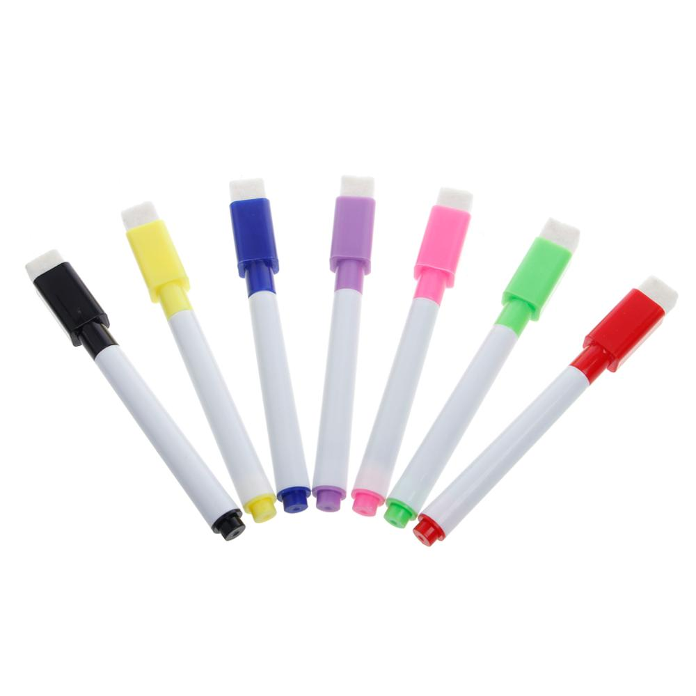 5Pcs Whiteboard Pen Erasable Dry White Board Markers Black Ink Fine Size Nip