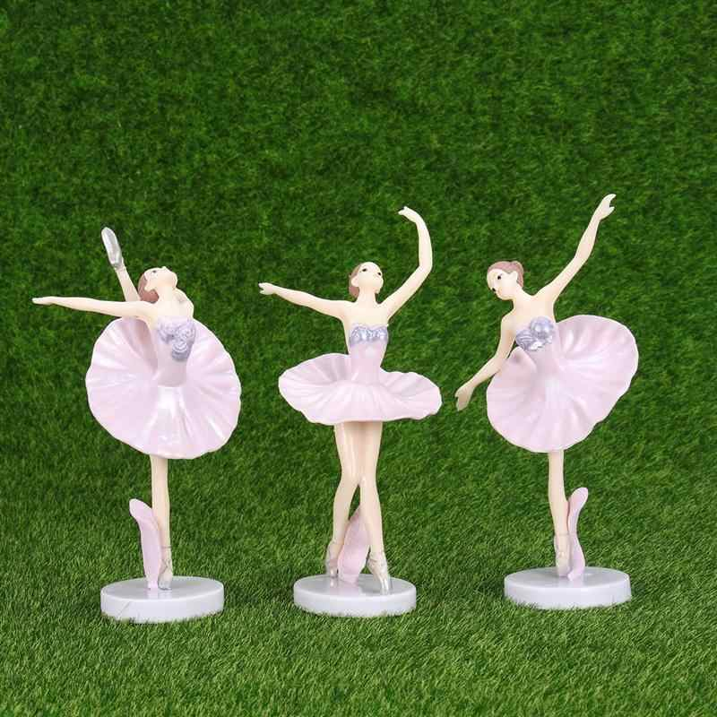 3PCS Ballerina Statue Desktop Ornament Dancing Girl Crafts Art Figurines Home Decor