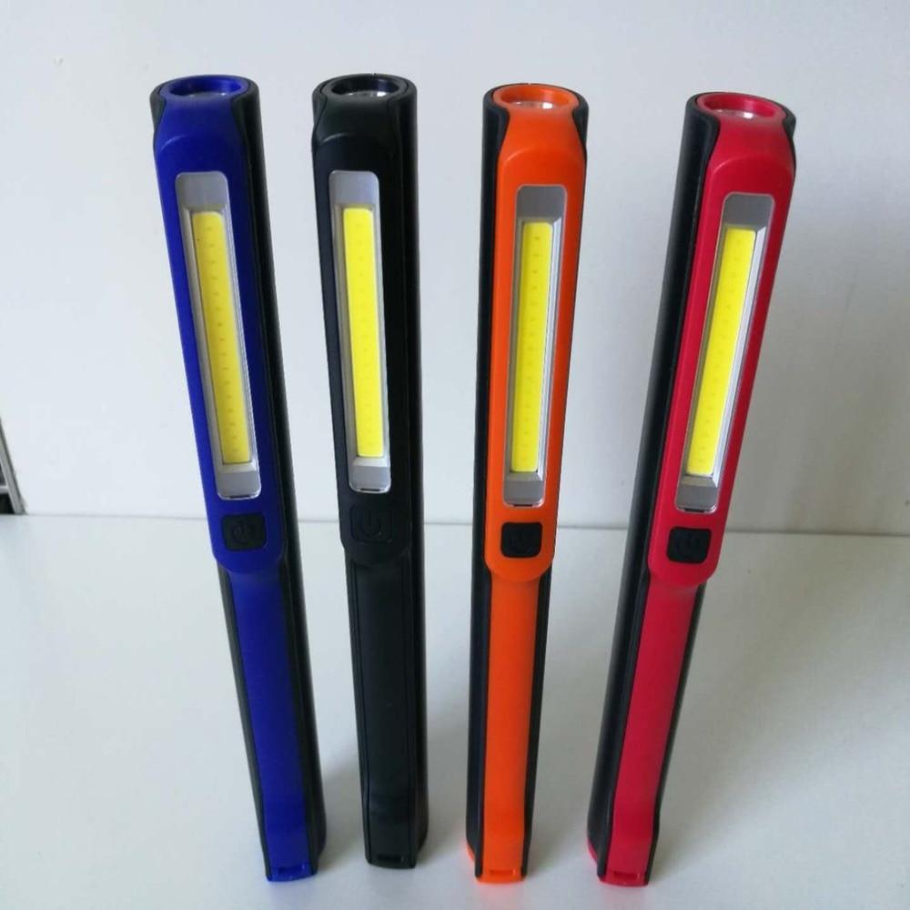 Portable Handheld COB LED Flashlight Multifunction Torch Light Magnetic Working Inspection Lamp Pocket Light USB Charging