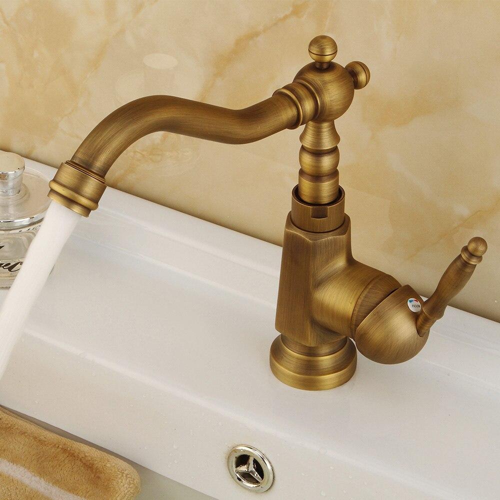 Sala de chuveiro lavatório cobre cheio antigo torneira água quente e fria lavagem do banheiro ao ar livre rotativo europeu retro mistura