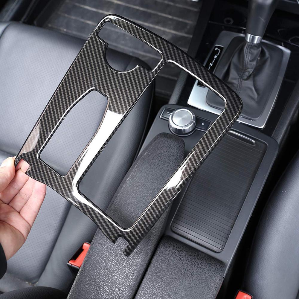 Car Styling Carbon Fiber Multimedia Handrest Panel Covers For Mercedes Benz W204 W212 C Class E Class