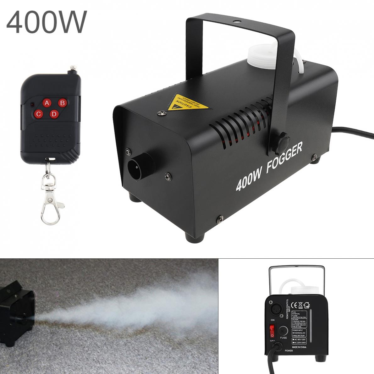 Fog Machine  Wire Control 400W /500W Hood Professional Fog Machine Ejector With Remote Control For Wedding / Stage / Bar  / KTV
