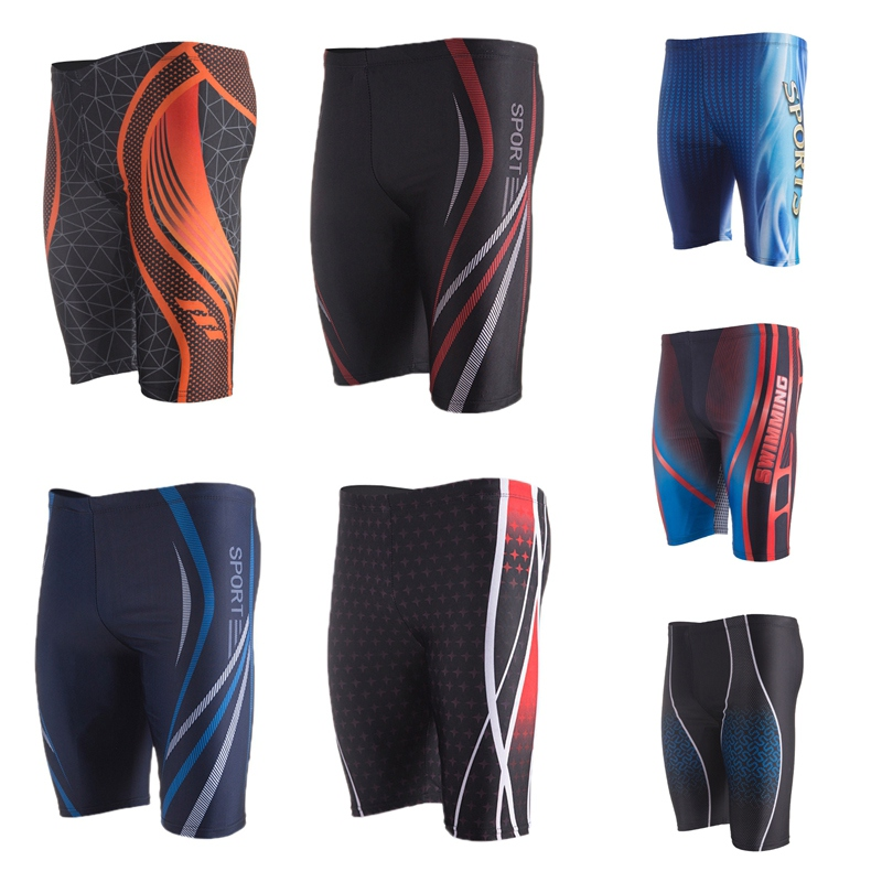 Swimming Trunk Briefs Bathing-Suit Boxer Water-Sports Breathable Summer Print Spandex