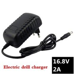 16,8 V 2A отвертка зарядное устройство для 18650 литиевая батарея 14,4 V 4 серии литий-ионная батарея настенное зарядное устройство AC 100 V-240 V EU/US вилка