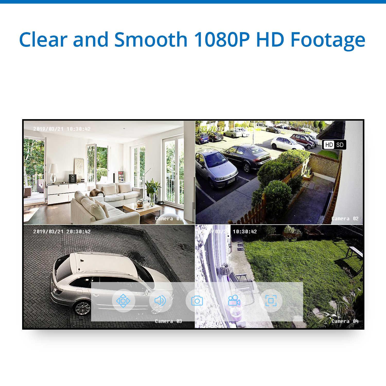 SANNCE 4CH 1080N HDMI DVR ระบบกล้องวงจรปิด 4pcs 1080P กล้องรักษาความปลอดภัย IR ในร่มกลางแจ้ง CCTV ชุด