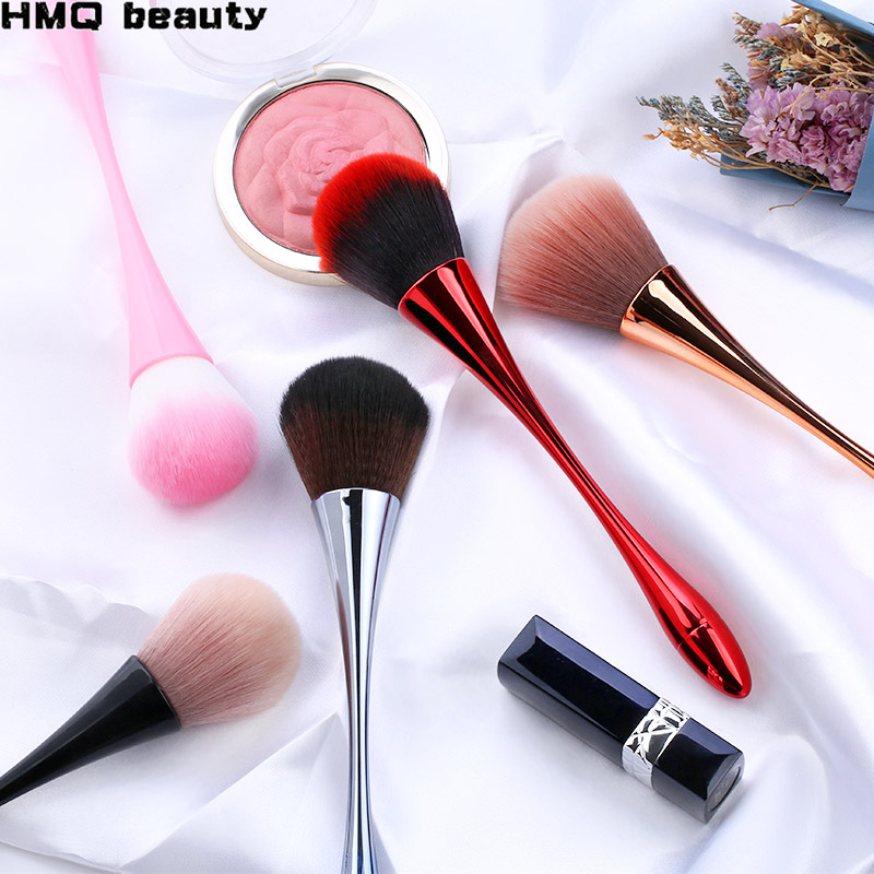1Pc Makeup Brush Cosmetic Foundation Brushes Plastic Handle Blush Brush Large Loose Powder Face Beauty Makeup Tool