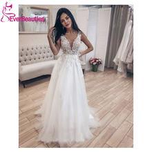 Платье свадебное длинное с глубоким v образным вырезом открытой