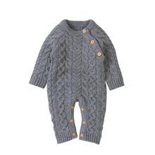 Трикотажная одежда для малышей; Комбинезон с длинными рукавами