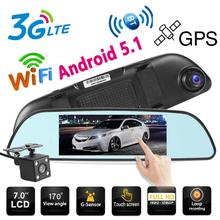 Newest 6.86 inch 3G Android Car DVR Camera GPS Navi Dual Lens WiFi Bluetooth FM Dash Cam Digital Video Recorder GPS navigation все цены
