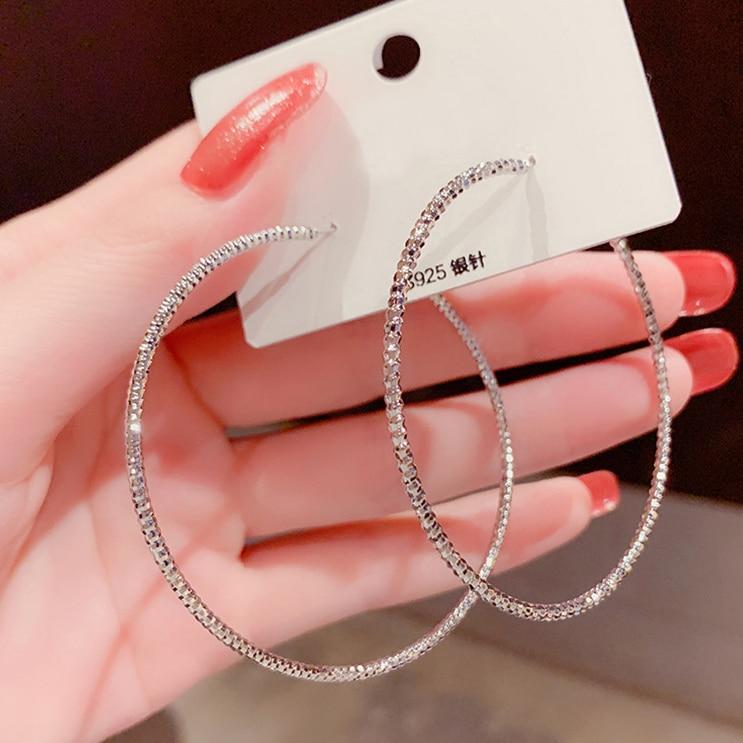 Hot Neue Koreanische Mode Temperament Vintage Delicate Pflastern Zirkon Kreis Hoop Ohrringe Für Frauen Mädchen Chic Ohrring Schmuck LS1043