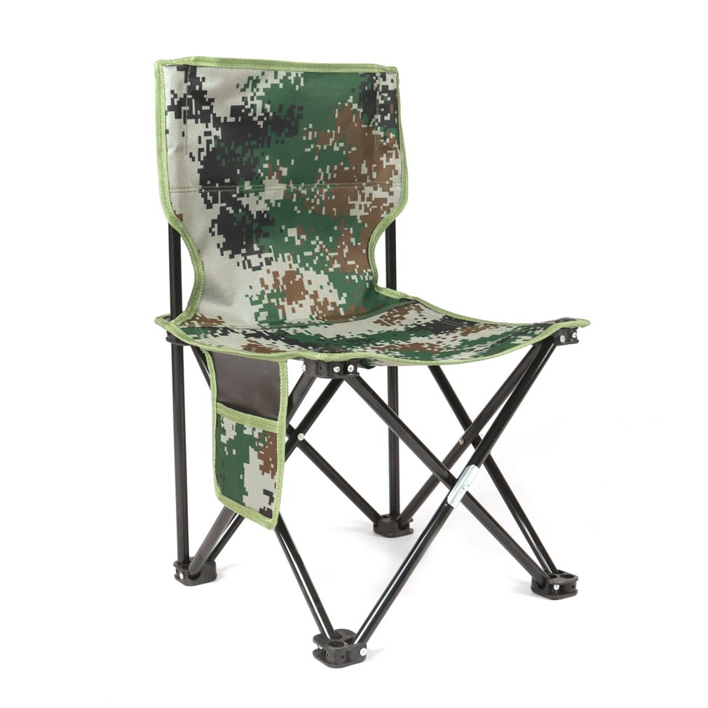 Ultralight Aluminum Alloy Foldable Four Corners Chair Camouflage Outdoor Stool Chair Seat For Camping Hiking Fishing Picnic