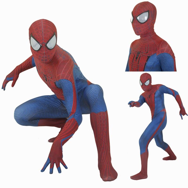 Amazing Spider-man Cosplay Costume Man Spandex Lycra Bodysuit Halloween Zentai