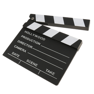 Funny Directors Hollywood Film Movies Party Decoration Clapper Board